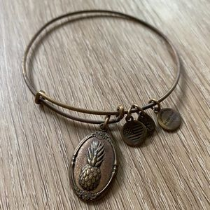 Alex & Ani Pineapple Bracelet - Gold